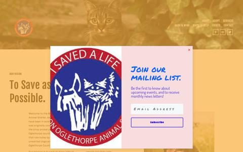 Screenshot of About Page moaspets.com - Our Vision — MOAS Pets - captured July 4, 2018