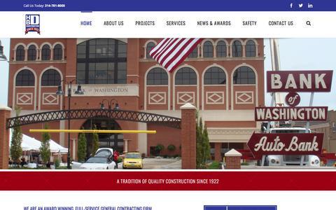 Screenshot of Home Page hbdgc.com - Home - HBD Construction - captured Sept. 25, 2018