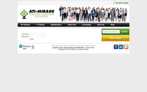 Screenshot of Login Page ati-mirage.com.au - ATI Mirage - member login - captured Nov. 12, 2018