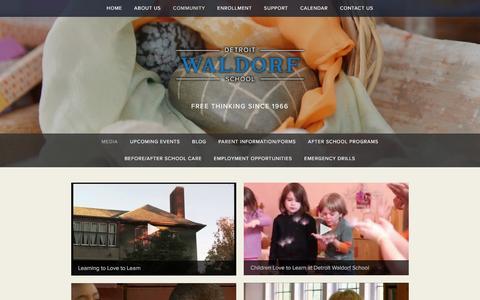 Screenshot of Press Page detroitwaldorf.org - Media — Detroit Waldorf School - captured Feb. 9, 2016