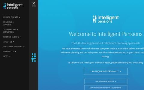 Screenshot of Home Page intelligentpensions.com - Welcome to Intelligent Pensions - Intelligent Pensions - captured Oct. 6, 2014