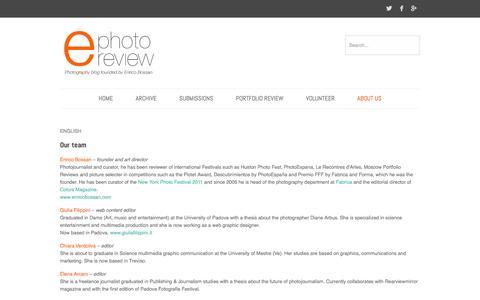 Screenshot of Team Page e-photoreview.com - Team   e-photoreviewe-photoreview - captured Oct. 3, 2014