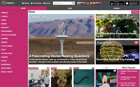 Screenshot of Press Page eatglobe.com - News - Eatglobe - captured Oct. 22, 2016