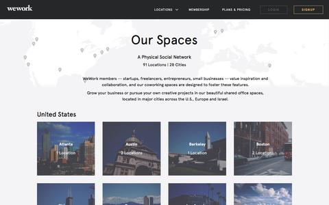 Screenshot of Locations Page wework.com - Coworking, Office Space - All Locations | WeWork - captured April 5, 2016