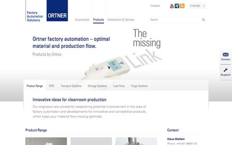 Screenshot of Products Page rr-ortner.com - Product Range - Roth & Rau - Ortner GmbH - captured Nov. 4, 2014
