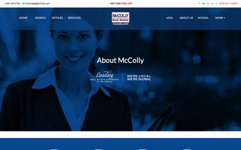 Screenshot of About Page mccolly.com - Company History | McColly Real Estate | McColly Real Estate - captured Sept. 24, 2018