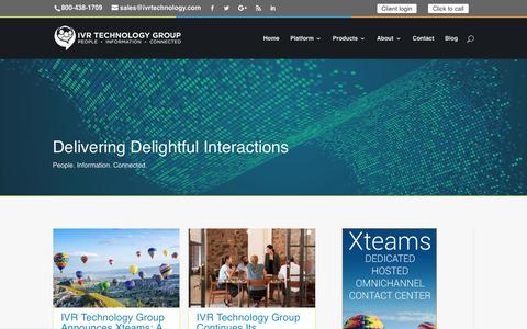 Screenshot of Blog ivrtechgroup.com - Blog | Start Delivering Delightful Customer Interactions w/ IVR Tech Group - captured July 10, 2018
