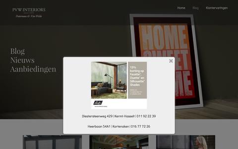 Screenshot of Blog pvw-interiors.be - Blog - PVW Interiors - captured Oct. 17, 2016