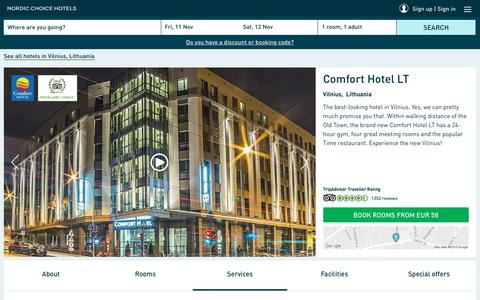 Screenshot of Services Page nordicchoicehotels.com - Range of services | Comfort Hotel LT Vilnius - captured Nov. 10, 2016