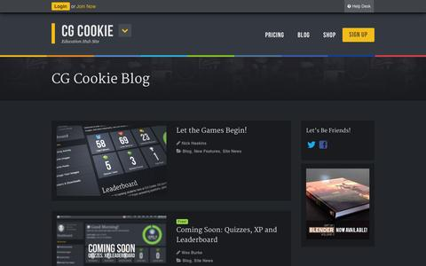 Screenshot of Blog cgcookie.com - Blog Archives - CG Cookie - captured Sept. 18, 2014