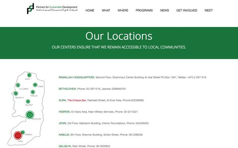 Screenshot of Locations Page psdpal.org - Locations - captured Oct. 1, 2014