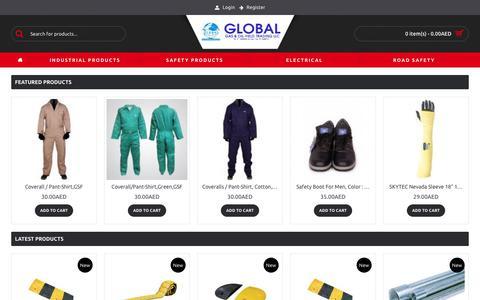 Screenshot of Products Page globalintluae.com - Global International - captured Sept. 28, 2018