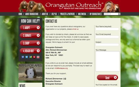 Screenshot of Contact Page redapes.org - Contact Us - captured Oct. 1, 2014