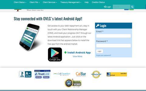 Screenshot of Login Page ovlg.com - Login -OVLG - captured July 6, 2017