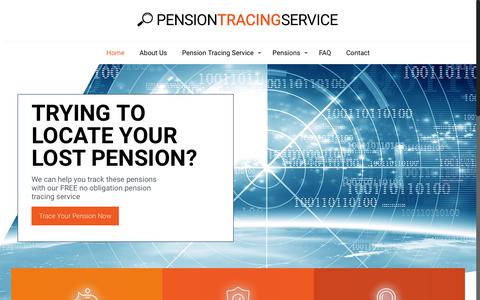 Screenshot of Home Page pension-tracing-service-uk.co.uk - FREE Pension Tracing Service, Pension Review & SERPS Pension - captured Feb. 10, 2018