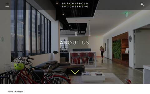 Screenshot of About Page burohappold.com - About us - BuroHappold Engineering - captured Sept. 23, 2018