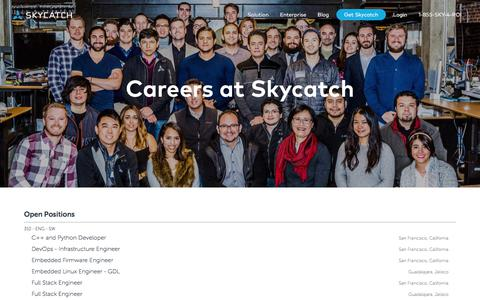 Screenshot of Jobs Page skycatch.com - Careers - Down to Earth Aerial Intelligence - captured Dec. 4, 2019