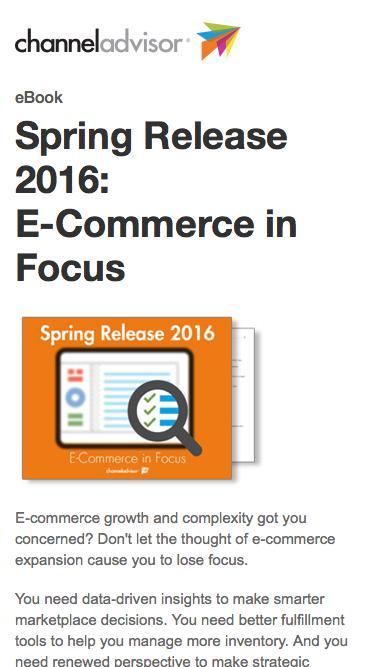 Spring Release 2016: E-Commerce in Focus | ChannelAdvisor