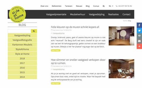 Screenshot of Blog styleathome.be - Blog | StyleatHome - captured Oct. 1, 2018