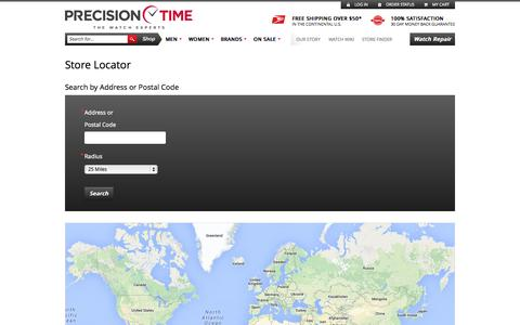 Screenshot of Locations Page precisiontimeco.com - Precision Time - captured Sept. 13, 2014
