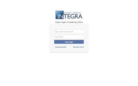 Screenshot of Home Page api.adv.br - Sistema Jurídico INTEGRA - captured Oct. 4, 2014