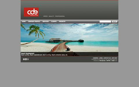 Screenshot of Home Page cde.com.mv - CDE Consulting - captured Oct. 2, 2014