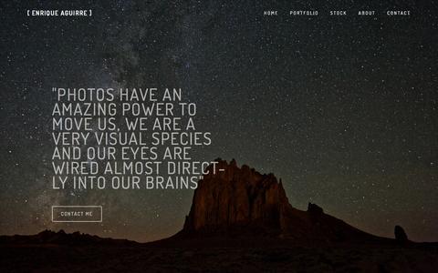 Screenshot of About Page enriqueaguirre.com - About — [ Enrique Aguirre ] - captured Jan. 29, 2016