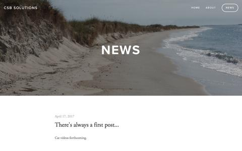 Screenshot of Press Page csbsolutions.net - News — CSB Solutions - captured May 13, 2017