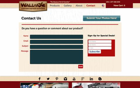 Screenshot of Contact Page wallaxe.com - Contact Wall-Axe - captured Oct. 26, 2017