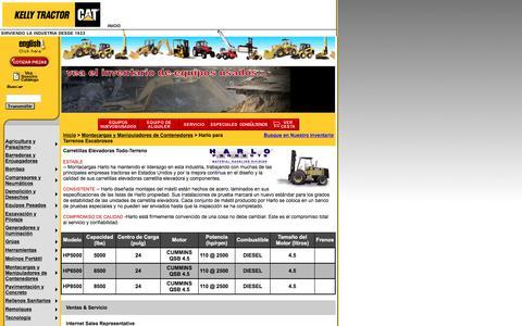 Screenshot of Landing Page kellytractor.com - Montacargas Harlo Para Terrenos Escabrosos en Kelly Tractor - captured Aug. 12, 2016