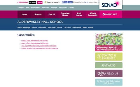 Screenshot of Case Studies Page senadgroup.com - Case Studies - The SENAD Group - captured May 31, 2016