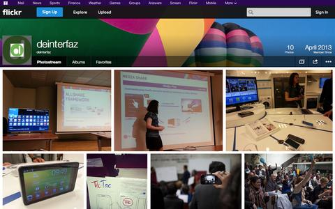 Screenshot of Flickr Page flickr.com - Flickr: deinterfaz's Photostream - captured Oct. 23, 2014