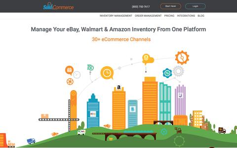 Screenshot of Home Page solidcommerce.com - Amazon Inventory Management Software | eBay Inventory Management - captured June 29, 2018