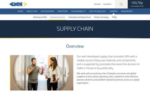 Screenshot of gkn.com - Supply Chain - captured Dec. 31, 2016