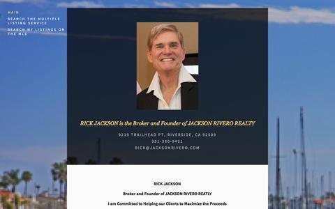 Screenshot of Home Page jacksonrivero.com - JACKSON RIVERO REALTY - captured Oct. 3, 2014
