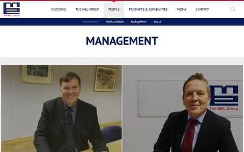 Screenshot of Team Page themelgroup.co.uk - MANAGEMENT - captured Oct. 30, 2016
