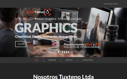 Screenshot of Home Page tuxteno.net - Tuxteno.net - captured Sept. 18, 2015