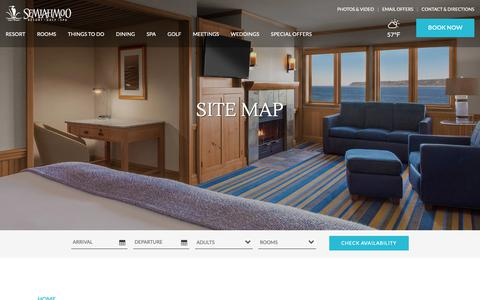 Screenshot of Site Map Page semiahmoo.com - Sitemap - Blaine WA Hotels - Semiahmoo Golf Resort & Spa - Pacific NW Vacations - captured Oct. 10, 2018