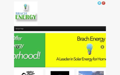 Screenshot of About Page brachenergy.com - My Website | Just another WordPress site - captured Sept. 30, 2014