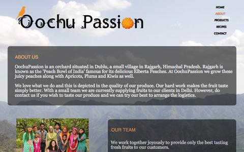 Screenshot of About Page oochupassion.in - About - captured Oct. 26, 2014