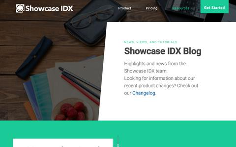 Screenshot of Blog showcaseidx.com - Blog - Showcase IDX - captured Feb. 10, 2019