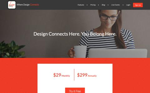 Screenshot of Pricing Page designcampus.com - Pricing - Design Campus - captured Feb. 4, 2018