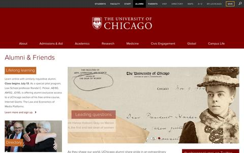 Alumni & Friends | The University of Chicago
