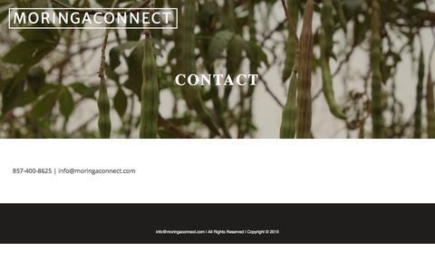 Screenshot of Contact Page moringaconnect.com - Contact | MORINGACONNECT - captured Aug. 13, 2016