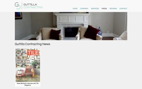 Screenshot of Press Page guttillacontracting.com - Guttilla Contracting News | Guttilla Contracting - captured Sept. 25, 2017