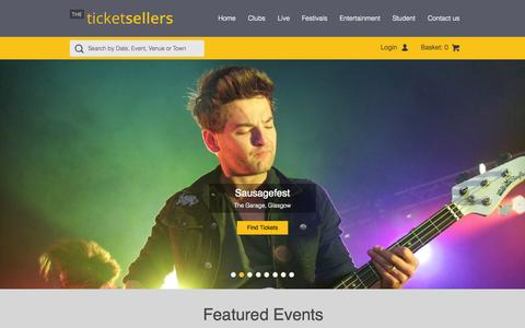Screenshot of Home Page theticketsellers.co.uk - TheTicketSellers | Selling Tickets for Clubs, Festivals and other Events - captured Aug. 4, 2015
