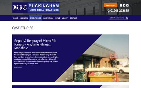 Screenshot of Case Studies Page buckinghamcoatings.co.uk - Case Studies | Buckingham Coatings - captured Nov. 23, 2016