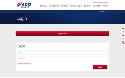 Screenshot of Login Page acd-gruppe.de - Login - ACD Gruppe - captured Nov. 19, 2016