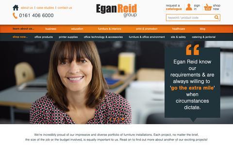 Screenshot of Case Studies Page eganreid.co.uk - case studies – Egan Reid - captured Sept. 27, 2018