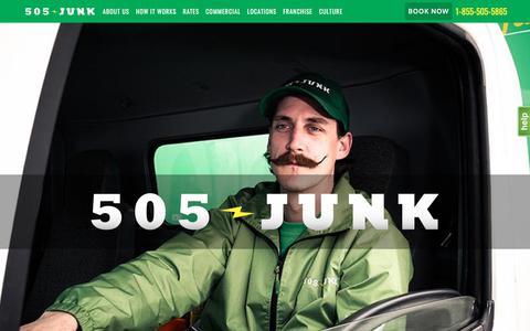 Screenshot of Home Page 505junk.com - Vancouver Junk Removal | Rubbish Removal Vancouver | 505-Junk - captured Sept. 21, 2018